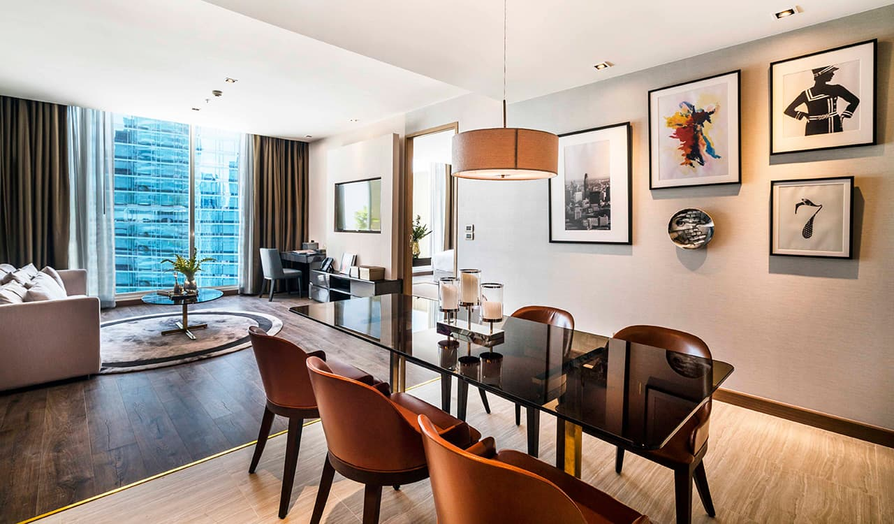 Two Bedroom Suite Lounge and Dining Area - akyra Thonglor Bangkok Hotel