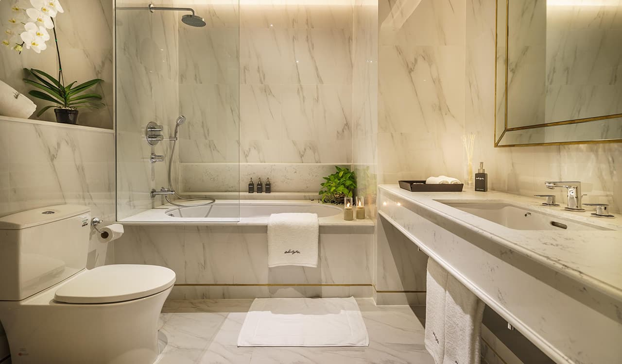 One Bedroom Suite Bathroom - akyra Thonglor Bangkok Hotel