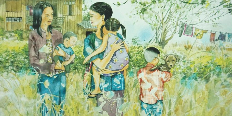 Rural Thai Culture a Floral Choreography Art Exhibition