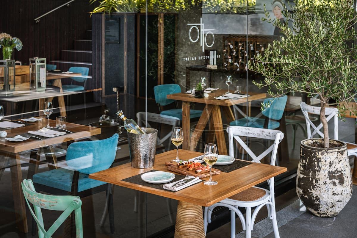 Otto Italian Restaurant Al Fresco Seating