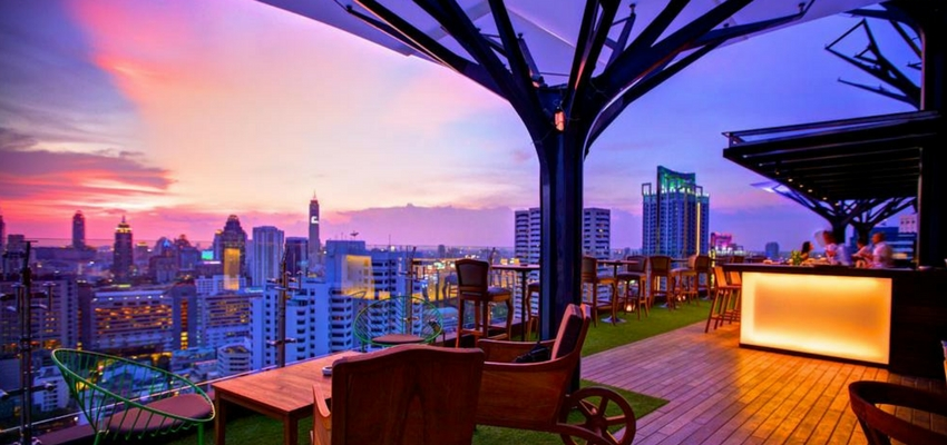 About Eleven roof bar in Bangkok