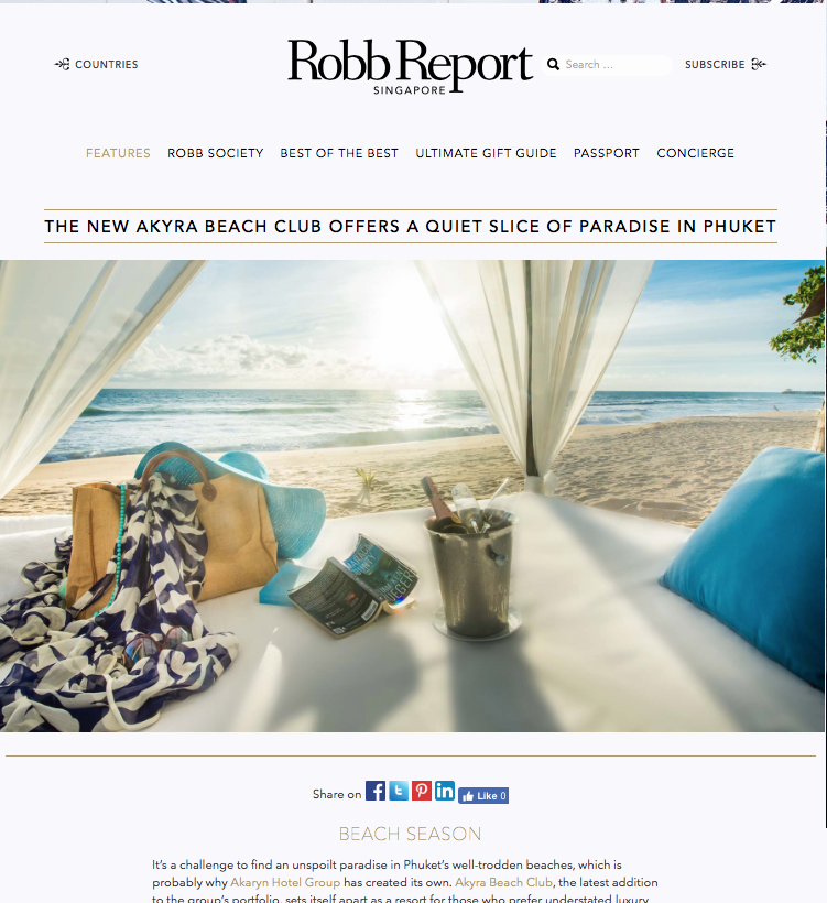Robb Report | January 2017