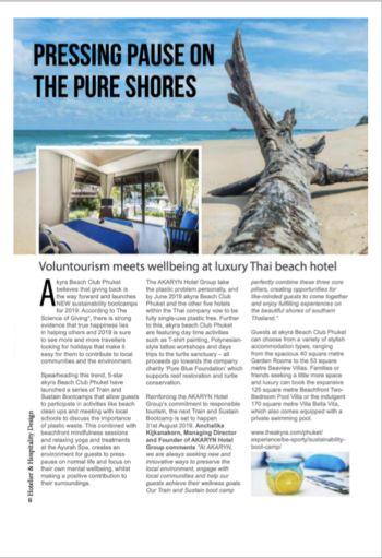 Hotelier & Hospitality Design Magazine | April 2019