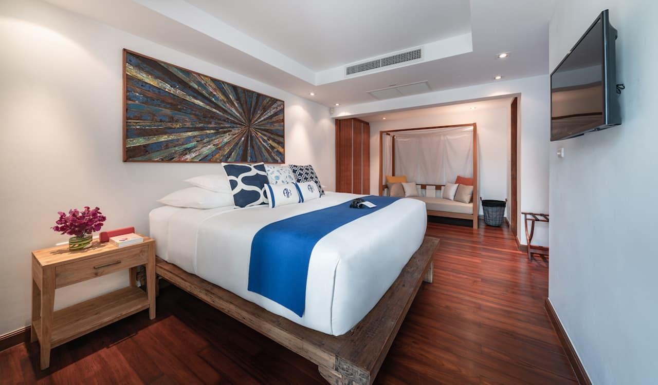 Three Bedroom Villas Bedroom One - akyra Beach Resort Phuket