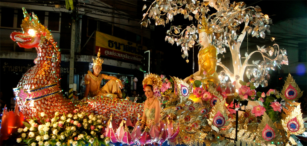 Loy Krathong festival floats in Chiang Mai