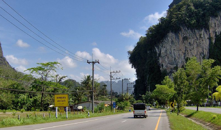 Entering Phang Nga Town