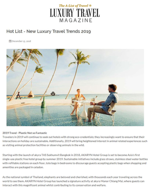 Luxury Travel Magazine | December 2018
