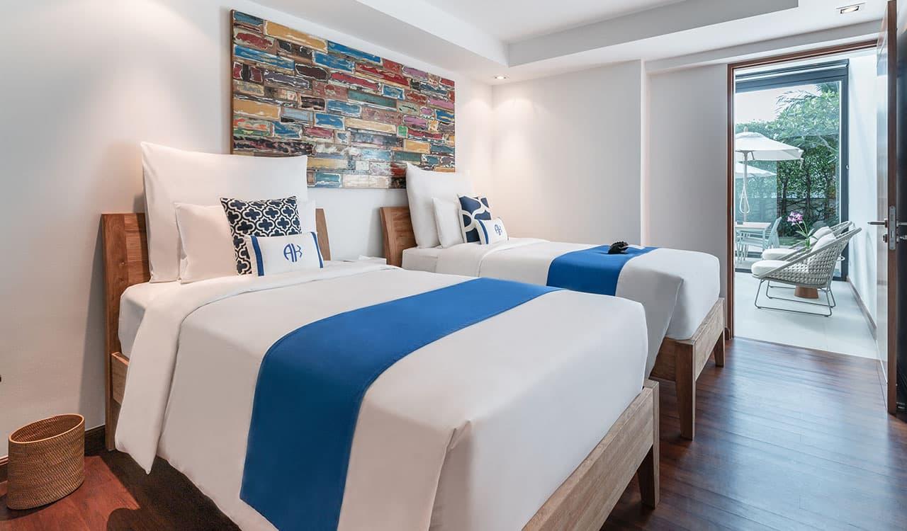 Three Bedroom Villas Third Bedroom with Twin Beds - akyra Beach Resort Phuket