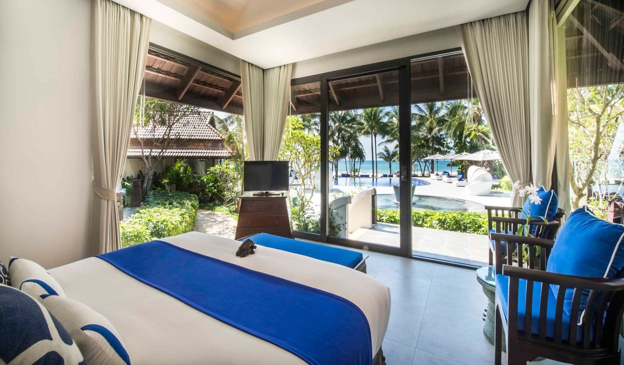 Seaview Villa Bedroom with Views to Beach - akyra Beach Resort Phuket