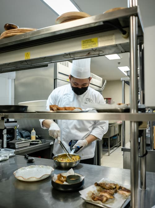 Head  Chef Plating Food - Otto Italian Restaurant