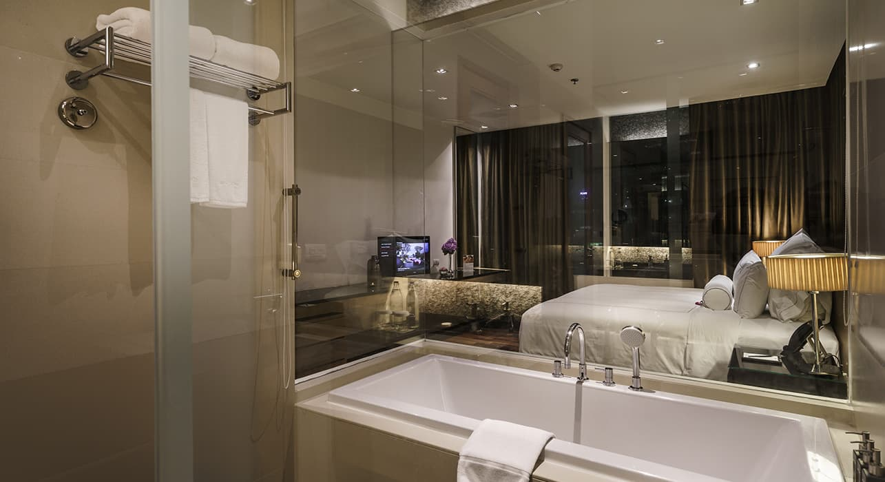 Three Bedroom Serviced Apartment Suite Bathroom - akyra Thonglor Bangkok Hotel