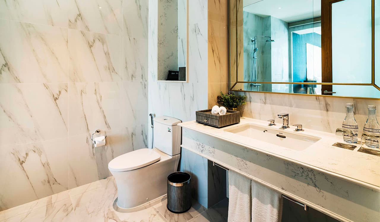Two Bedroom Suite Bathroom - akyra Thonglor Bangkok Hotel