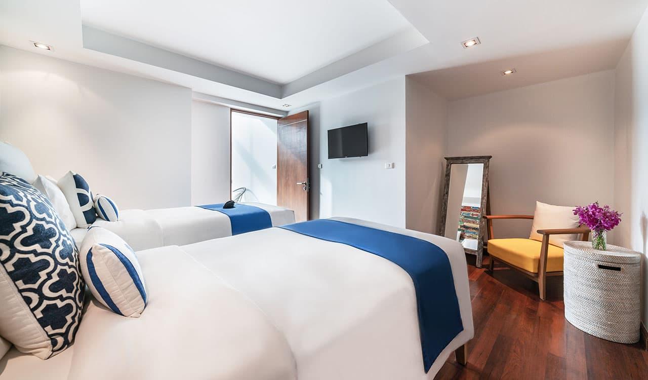 Three Bedroom Villas Twin Bedroom - akyra Beach Resort Phuket