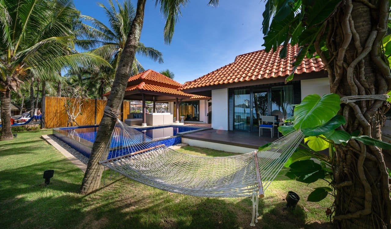 Two Bedroom Beach Villas Garden with Hammock - akyra Beach Resort Phuket