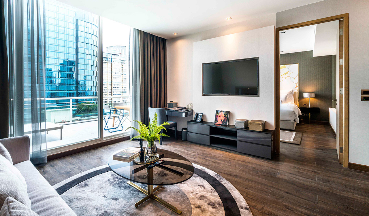 Deluxe suite living area - akyra Thonglor Bangkok