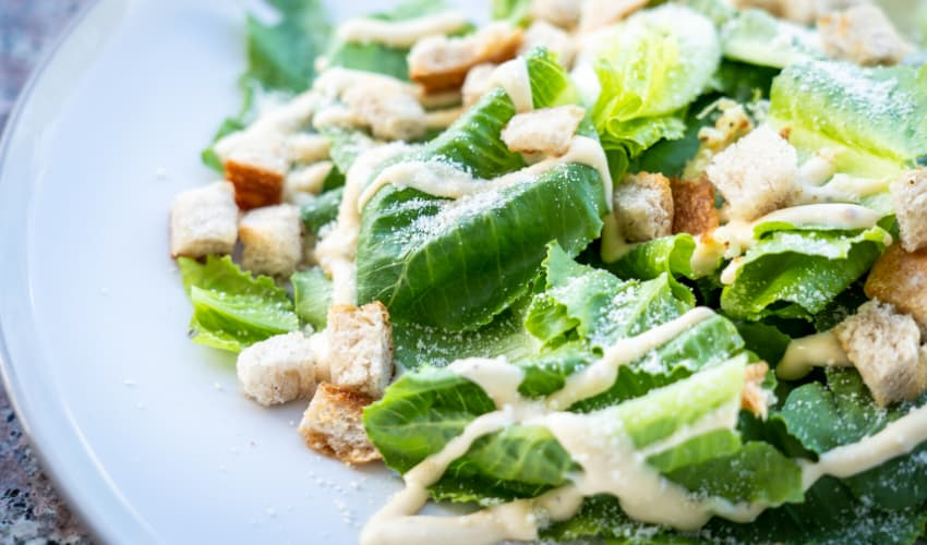 Making a Caesar Salad at Home